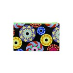 Colorful Retro Circular Pattern Cosmetic Bag (XS) Back