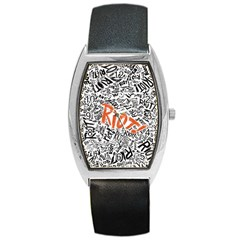 Paramore Is An American Rock Band Barrel Style Metal Watch by Onesevenart