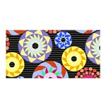 Colorful Retro Circular Pattern Satin Wrap