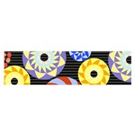 Colorful Retro Circular Pattern Satin Scarf (Oblong) Front