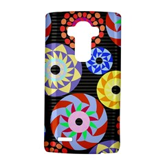 Colorful Retro Circular Pattern Lg G4 Hardshell Case by DanaeStudio
