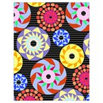 Colorful Retro Circular Pattern Drawstring Bag (Large)