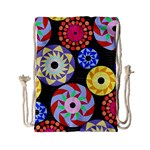 Colorful Retro Circular Pattern Drawstring Bag (Small)