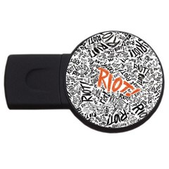 Paramore Is An American Rock Band Usb Flash Drive Round (4 Gb)  by Onesevenart