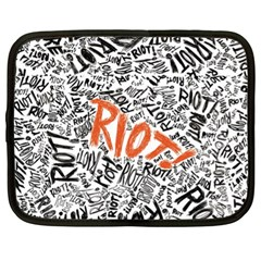 Paramore Is An American Rock Band Netbook Case (xl)  by Onesevenart
