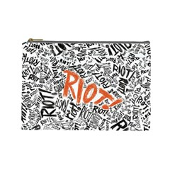 Paramore Is An American Rock Band Cosmetic Bag (large)  by Onesevenart