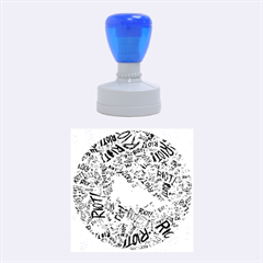 Paramore Is An American Rock Band Rubber Round Stamps (medium) by Onesevenart