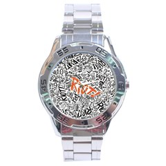 Paramore Is An American Rock Band Stainless Steel Analogue Watch by Onesevenart