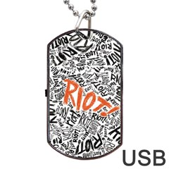 Paramore Is An American Rock Band Dog Tag Usb Flash (two Sides)  by Onesevenart