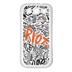 Paramore Is An American Rock Band Samsung Galaxy S3 Back Case (white) by Onesevenart