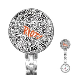 Paramore Is An American Rock Band Stainless Steel Nurses Watch by Onesevenart