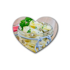 1 Kartoffelsalat Einmachglas 2 Rubber Coaster (heart)