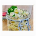 1 Kartoffelsalat Einmachglas 2 Small Glasses Cloth (2-Side) Back