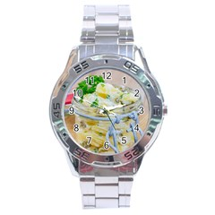 1 Kartoffelsalat Einmachglas 2 Stainless Steel Analogue Watch by wsfcow
