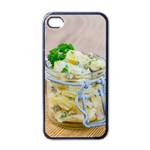 1 Kartoffelsalat Einmachglas 2 Apple iPhone 4 Case (Black) Front