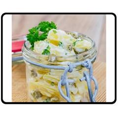 1 Kartoffelsalat Einmachglas 2 Double Sided Fleece Blanket (medium)  by wsfcow
