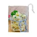 1 Kartoffelsalat Einmachglas 2 Drawstring Pouches (Large)  Front