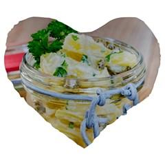1 Kartoffelsalat Einmachglas 2 Large 19  Premium Flano Heart Shape Cushions