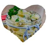 1 Kartoffelsalat Einmachglas 2 Large 19  Premium Flano Heart Shape Cushions Back
