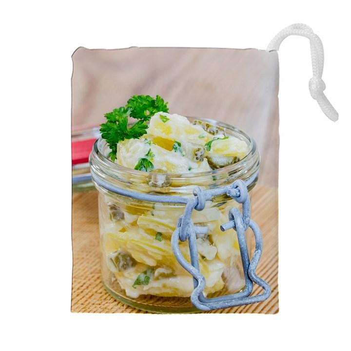 1 Kartoffelsalat Einmachglas 2 Drawstring Pouches (Extra Large)