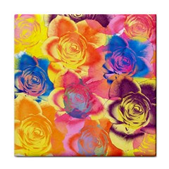 Pop Art Roses Tile Coasters by DanaeStudio