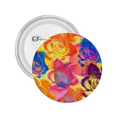 Pop Art Roses 2 25  Buttons