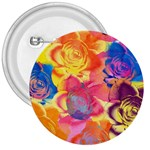 Pop Art Roses 3  Buttons Front