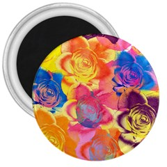 Pop Art Roses 3  Magnets by DanaeStudio