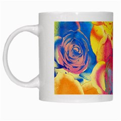 Pop Art Roses White Mugs by DanaeStudio