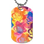 Pop Art Roses Dog Tag (Two Sides) Back