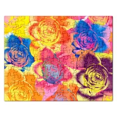 Pop Art Roses Rectangular Jigsaw Puzzl