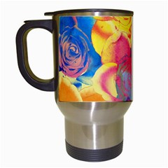 Pop Art Roses Travel Mugs (white) by DanaeStudio