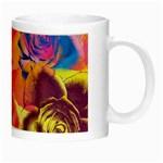 Pop Art Roses Night Luminous Mugs Right