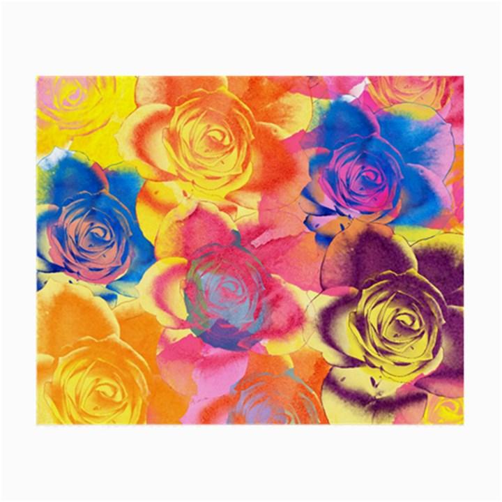 Pop Art Roses Small Glasses Cloth