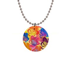 Pop Art Roses Button Necklaces by DanaeStudio