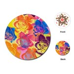 Pop Art Roses Playing Cards (Round)  Front