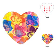 Pop Art Roses Playing Cards (heart)  by DanaeStudio