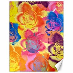 Pop Art Roses Canvas 12  X 16   by DanaeStudio