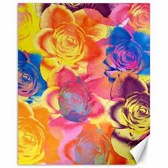 Pop Art Roses Canvas 16  X 20