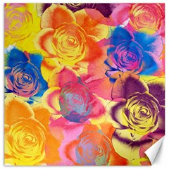 Pop Art Roses Canvas 20  X 20   by DanaeStudio