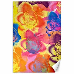 Pop Art Roses Canvas 24  X 36  by DanaeStudio