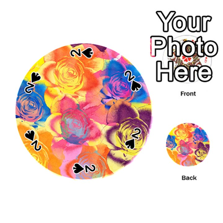 Pop Art Roses Playing Cards 54 (Round)