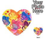 Pop Art Roses Playing Cards 54 (Heart)  Front - HeartA