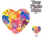 Pop Art Roses Playing Cards 54 (Heart)  Front - Diamond2