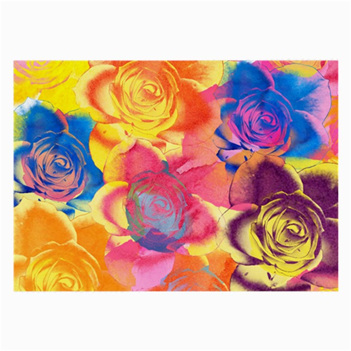 Pop Art Roses Large Glasses Cloth (2-Side)