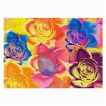 Pop Art Roses Large Glasses Cloth (2-Side) Back