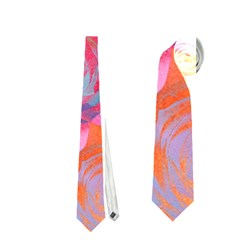Pop Art Roses Neckties (two Side)  by DanaeStudio