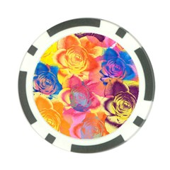 Pop Art Roses Poker Chip Card Guards by DanaeStudio