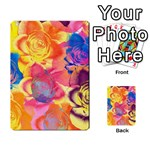 Pop Art Roses Multi-purpose Cards (Rectangle)  Back 33