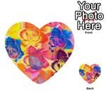 Pop Art Roses Multi-purpose Cards (Heart)  Back 15